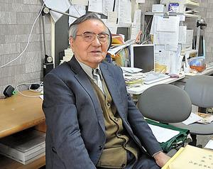 東京大空襲原告団の元団長、星野弘さん=東京都墨田区