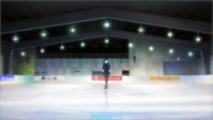 アイススケート場のイメージ画像(作品から) (C)はせつ町民会/ユーリ!!! on ICE 製作委員会