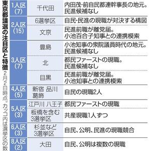 東京都議選の注目区と特徴