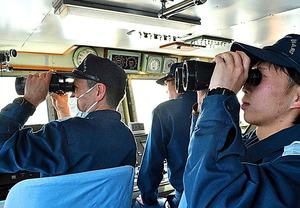 ロシア警備当局の巡視船発見。直ちに状況を確認する
