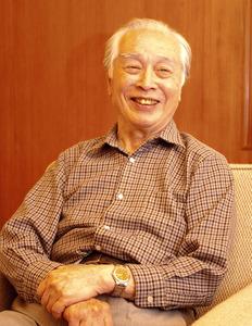 作家の三浦朱門さん=2010年撮影