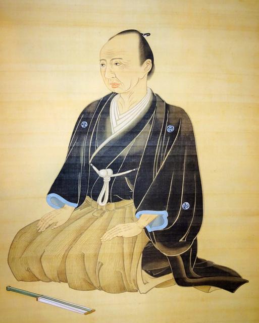 石田梅岩の肖像=心学明誠舎蔵