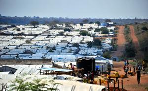 南スーダン・ジュバの国内避難民保護区