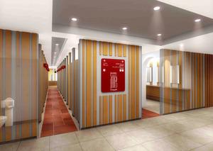 2019年秋に開設予定の新区民センターにできる「女性トイレ」のイメージ図=豊島区提供