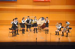 金賞に輝いた鹿児島市立和田小の演奏=北九州市の北九州ソレイユホール