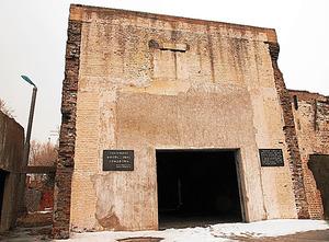 旧日本軍731部隊が設置した凍傷実験室跡=2012年3月、中国・ハルビン、筆者写す