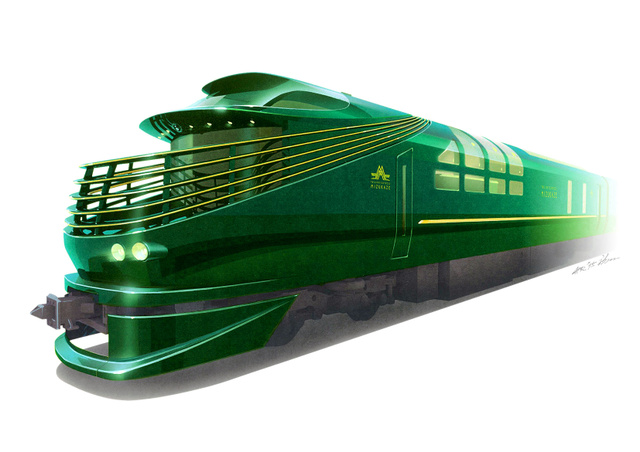 「トワイライトエクスプレス瑞風」の外装イメージ(JR西日本提供)
