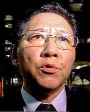 カン・チョル駐マレーシア北朝鮮大使=17日午後11時40分、クアラルンプール、古谷祐伸撮影