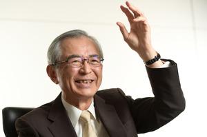 日立製作所の元会長兼社長の川村隆さん=山本和生撮影