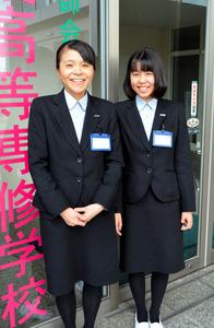 「よく仲がいいねと言われます」と話す大石清美さん(左)と実穂さん=行橋市