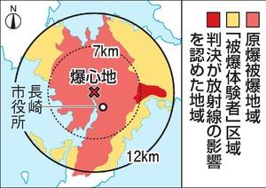 原爆被爆地域と被爆体験者区域