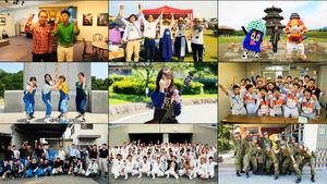 公開された動画のワンシーン。菊池市の市民や職員、応援に入った自治体の職員らが「負けんばい熊本!」と声をそろえる=菊池市提供