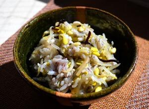 大豆モヤシの混ぜご飯