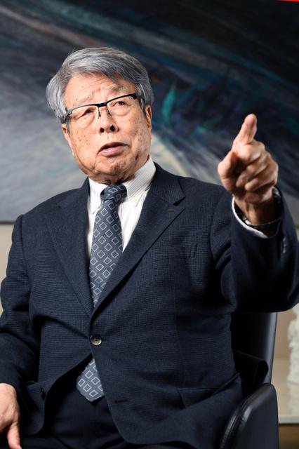 ウシオ電機会長の牛尾治朗さん=山本和生撮影