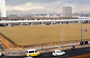 あすと長町仮設住宅跡。プレハブが撤去され、整地された=仙台市太白区