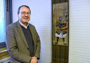 フランス国立東洋言語文化大学教授のクリストフ・マルケさん=大津市歴史博物館