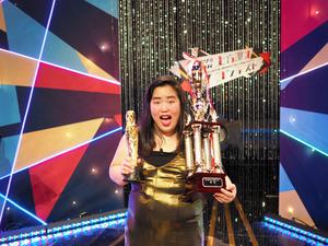 NHK上方漫才コンテストで優勝した、ゆりやんレトリィバァさん=大阪市中央区