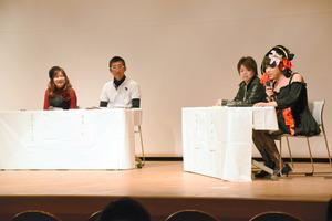 中学校教諭や行政関係者、性的少数者らによる「ぶっちゃけトーク」もあった=徳島市山城町