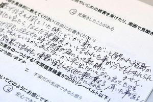 福島県外に避難して暮らしている男性は「福島から来ましたと言ったら、『なんだ避難民かい』と言われたことが今でもわすれられません」とアンケートに書いた