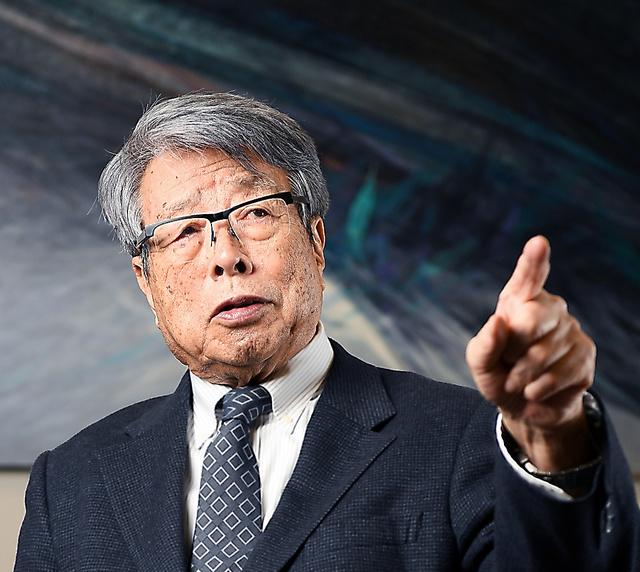 ウシオ電機会長・牛尾治朗さん=山本和生撮影