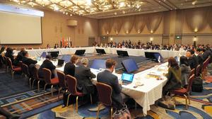 神戸市で始まった東アジア地域包括的経済連携(RCEP)の首席交渉官会合=27日午前、神戸市