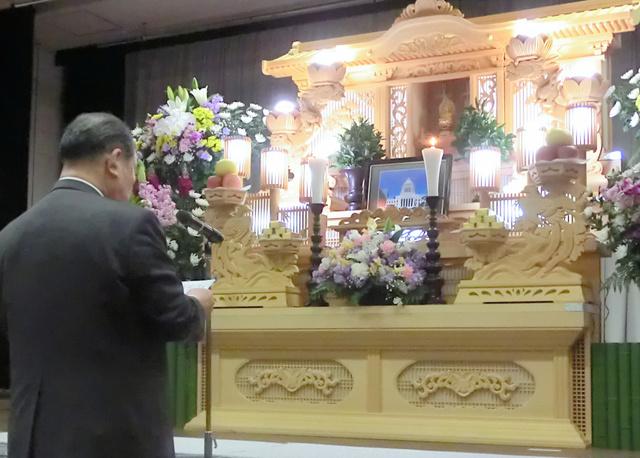 特定秘密保護法を成立させた国会に抗議を込めた「葬式」(2014年2月、高知市、日本一新の会提供)