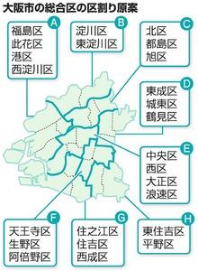 大阪市の総合区の区割り原案