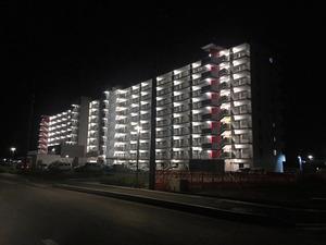気仙沼市内の脇(ないのわき)地区の災害公営住宅=2016年9月撮影、古屋聡さん提供