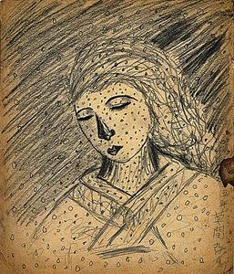 「無題」(1939年、作家蔵)(C)YAYOI KUSAMA