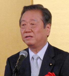 自由党の小沢一郎代表