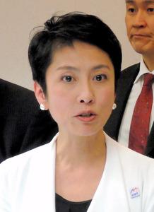 民進党の蓮舫代表=19日、北海道北見市、中崎太郎撮影