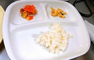 2歳児に出された給食=姫路市提供