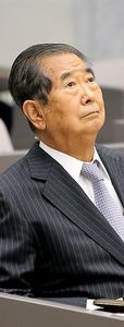 都議会百条委員会に証人として出席した石原慎太郎・元都知事=20日午後、東京都新宿区、長島一浩撮影