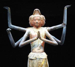国宝・阿修羅像=福岡県太宰府市の九州国立博物館