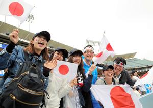 WBC準決勝には日本から多くのファンが訪れた=川村直子撮影