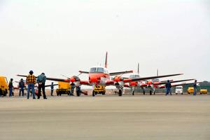 フィリピンに貸与される練習用飛行機TC90=徳島県松茂町