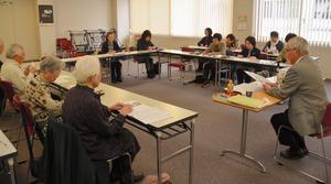 西洋史の会の最後の学習会。参加者16人が第2次世界大戦の開戦について学んだ=福井市大手3丁目