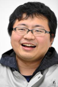 インタビューに答えるインターステラテクノロジズの稲川貴大社長=白井伸洋撮影