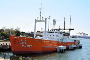 公開が再開される初代南極観測船「宗谷」=品川区東八潮