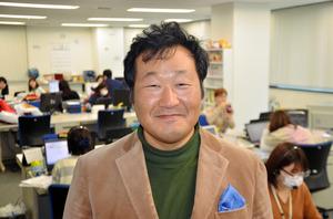 碇敏之さん。人なつっこい笑顔の持ち主です