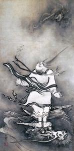 「呂洞賓図」=重要文化財、奈良・大和文華館蔵
