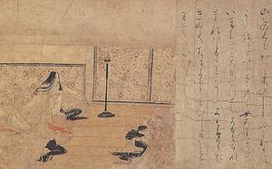 「病草紙断簡 不眠の女」(12世紀、サントリー美術館蔵)重要文化財