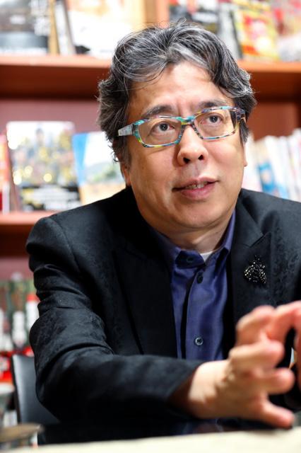 漫画家の小林よしのりさん=早坂元興撮影
