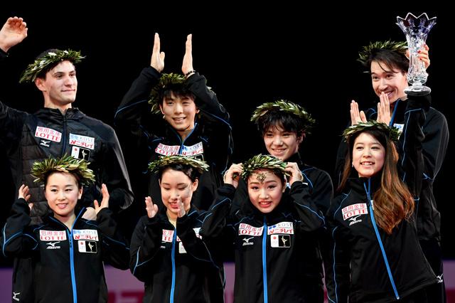 フィギュア国別、日本が優勝