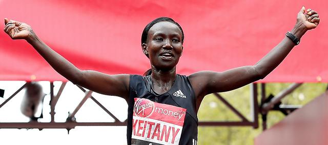 世界歴代2位の好記録で優勝したメアリー・ケイタニー=ロイター