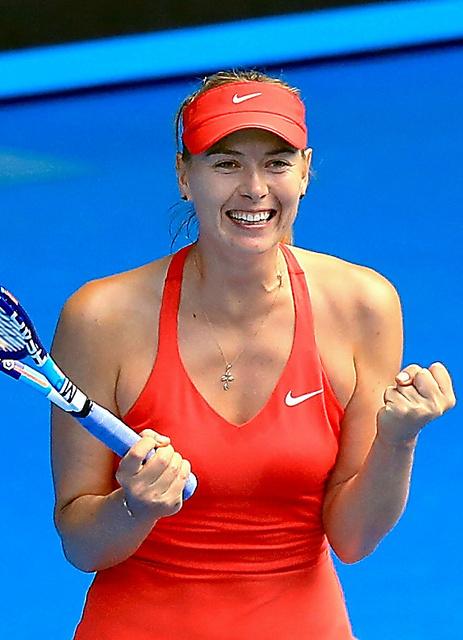 資格停止処分が26日に明けるマリア・シャラポワ=2015年1月、全豪オープン