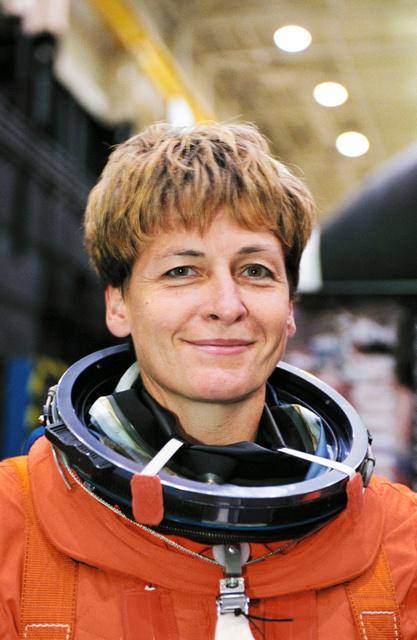 宇宙飛行士ペギー・ウィットソンさん。国際宇宙ステーション(ISS)の船長を務めている(NASA提供)
