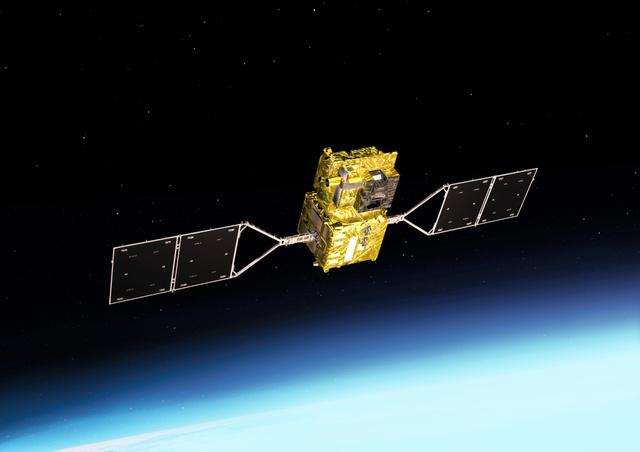 気候変動観測衛星〈GCOM―C〉(JAXA提供)