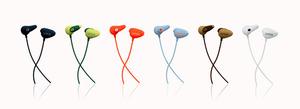 写真1 アンビーの「サウンドイヤカフ」(直販価格税込み5940円)。音楽のあるライフスタイルを提案する製品として、全6色のラインアップ