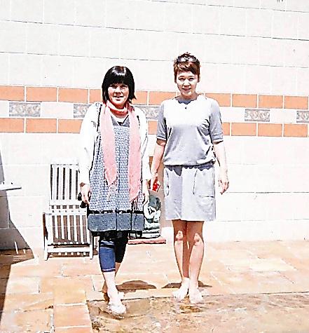 妹の恵と一緒に母を連れて行った温泉旅行先で